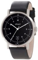 a.b. art OA104 Series OA Stainless Steel Swiss Automatic Black Dial and Leather Strap