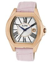 Adore Silver Dial Pink Genuine Leather