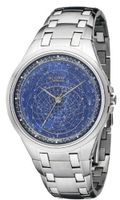 Accurist Celestial Timepiece Quartz with Blue Dial Analogue Display and Silver Stainless Steel Bracelet GMT118UK