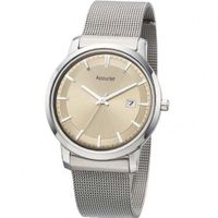 Accurist Gents Champagne Dial Stainless Steel Mesh Bracelet MB900K