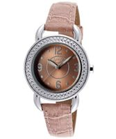 Activa SL287-001 32mm Stainless Steel Case Mauve Leatherette Leather Mineral