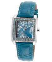 Blue Pearl Tone Dial Blue Leatherette