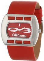 Altanus Geneve 16078B-01 Chic Horizontal Stainless Steel Quartz Red Napa Leather Decorated Red Corals