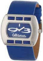 Altanus Geneve 16078B-05 Chic Horizontal Stainless Steel Quartz Blue Napa Leather Decorated Lapis Stones