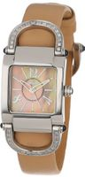 Altanus Geneve 16083B-04 Kelly Stainless Steel Quartz Beige Leather Sapphire