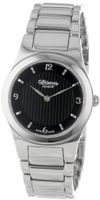 Altanus Geneve 16104-01 Chic Swiss Stainless Steel Quartz Black Dial Sapphire Glass