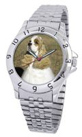 American Kennel Club D1709S243 Cocker Spaniel Silver-Tone Expansion Band