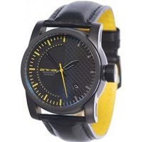 Animal WW3WC009-002 Burn Black Leather Strap