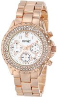 August Steiner AS8031RG Crystal Mother-Of-Pearl Chronograph Bracelet