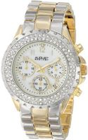August Steiner AS8031TTG Crystal Mother-Of-Pearl Chronograph Bracelet