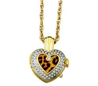 Avalon Amore Heart Shaped Fashion Pendant with Leopard Design # 7394TG