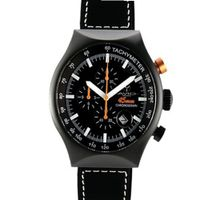 45 MM BLACK PVD Aluminum Case Chronograph Tachymeter Date