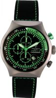 45 MM TP GREEN Aluminum Case Black and Green Dial Chronograph Tachymeter Date