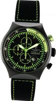 45 MM TP YELLOW Black PVD Aluminum Case Black and Yellow Dial Chronograph Tachymeter Date
