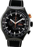 50 MM BLACK PVD Aluminum Case Chronograph Tachymeter Date