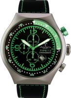 50 MM TP GREEN Aluminum Case Black and Green Dial Chronograph Tachymeter Date