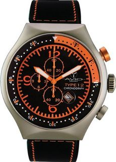 50 MM TP ORANGE Aluminum Case Black and Orange Dial Chronograph Tachymeter Date