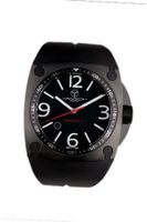 Avio Milano Quartz with Black Dial Analogue Display and Black Rubber Strap MK BK 1001