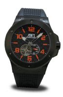 AWI Automatic Self Winding Black PVD Plating Top Ring/Transparent Case Back