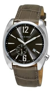 Azzaro AZ1300.14KK.005 Seventies Grey Dial Green Strap Small Second