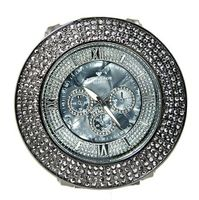 4 Row Black Cz, Gun Metal Black Mega Bling Dress 60mm Case