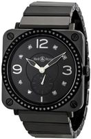 Bell and Ross Aviation Black Dial Diamond Unisex BRS-BLKD-CER-PHT