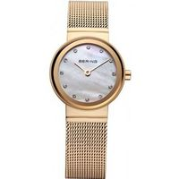 Bering Time 10122-334 Ladies Gold Classic Mesh