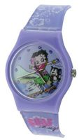 Betty Boop Analogue Surf Purple & White Plastic Strap Girls BTY14B