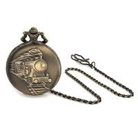 Bling Jewelry Antique Style Large Steam Engine Train Quartz Pocket