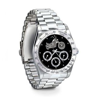 Ride Hard, Live Free Stainless Steel Motorcycle Chronograph : Jewelry Gift For Biker