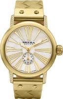 BRERA BWVA34276-GDBR Valentina Contemporary Sparkle 42mm Gold tone case with Real Diamonds GOLD Tone BRAIDED Rubber strap and Signature buckle