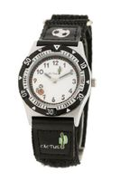 CAC Boys Black Football with Fabric Strap and White dial CAC-25-M01