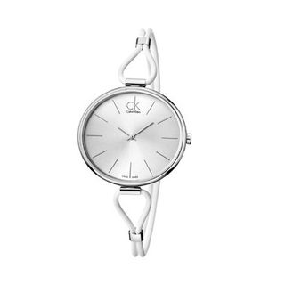 Calvin Klein K3V231L6 White Leather Analog