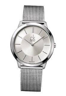Calvin Klein Minimal Collection Stainless Band Silver Dial - K3M21126