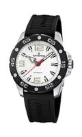 Candino Automatic with White Dial Analogue Display and Black Plastic Or Pu Strap C4453/1
