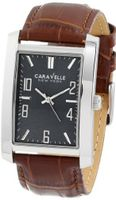 Caravelle New York 43A119 Analog Display Japanese Quartz Brown