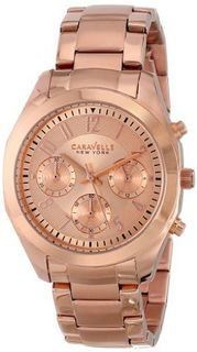 Caravelle New York 44L115 Analog Display Japanese Quartz Rose Gold