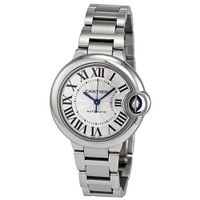 Cartier Ballon Bleu Automatic Silver Flinque Dial Ladies W6920071