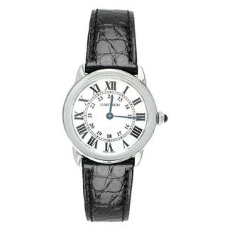 Cartier W6700155 Ronde Solo Black Leather