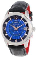 "CCCP CP-7001-03 ""Sputnik 1"" Stainless Steel, Black Leather Strap, and Blue Dial"
