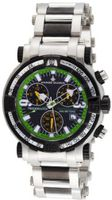 Chase-Durer 224.2BE-BRA Trackmaster Pro Chronograph 2nd Edition Stainless Steel and Black Ion-Plated
