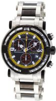 Chase-Durer 224.2BY-BRA Trackmaster Pro Chronograph 2nd Edition Stainless Steel and Black Ion-Plated