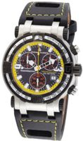 Chase-Durer 224.2BY-LEA Trackmaster Pro Chronograph 2nd Edition Yellow-Stitched Leather
