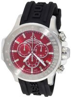 Chase-Durer 380.2RR-RUBB Firestorm Chronograph Stainless Steel Rubber Strap