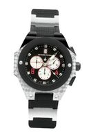 Chase-Durer 779.3BBW Conquest Sport Chronograph Stainless Steel and Rubber Strap