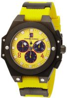 Chase-Durer 779.4BYB Conquest Sport Chronograph Stainless Steel and Yellow Rubber
