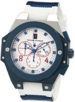 Chase-Durer 779.5LWW Conquest Sport Chronograph Blue Ion-Plated and White Rubber