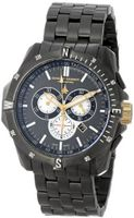 Chase-Durer 850.4GGM Crossfire Gunmetal Ion-Plated Stainless Steel Chronograph