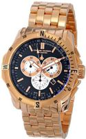Chase-Durer 850.8BRG Crossfire 18K Rose Gold-Plated Stainless Steel Chronograph