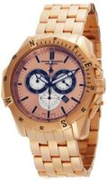 Chase-Durer 850.8RRG Crossfire 18K Rose Gold-Plated Stainless Steel Chronograph